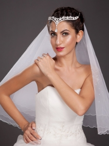 Exclusive Alloy Tiara With A Hanging Beading Decorates