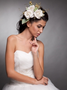 Beautiful Headpieces Taffeta Hand Made Flowers