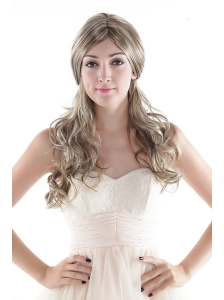 Long High Quality Synthetic Flaxen Wavy Hair Wig