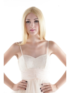 Long Synthetic Blonde Straight Hair Wig