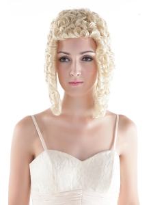 Medium Curly Blonde High Quality Synthetic Hair Wig
