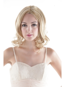 Short High Quality Synthetic Blonde Curly Hair Wig