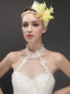 Amazing Imitation Pearls Adorned Women 's Fascinators