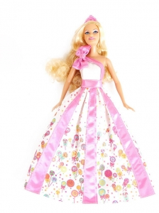 New Beautiful Printing Party Clothes Fashion Dress For Quinceanera Doll