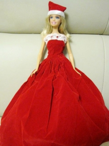 Simple Red Handmade Dress Party Clothes For Quinceanera Doll
