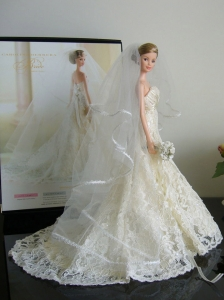 The Most Amazing Wedding Dress With Court Train Made To Fit The Quinceanera Doll
