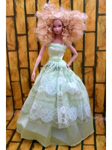 Cute Yellow Green Party Dress Made To Fit The Quinceanera Doll