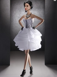 New Fashion Holiday Dress White Organza For Quinceanera Doll