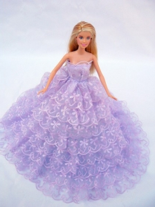 The Most Amazing Lilac Dress With Lace And Ruffles Made To Fit The Quinceanera Doll