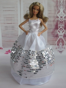 Ball Gown Party Clothes Sequins Quinceanera Doll Dress