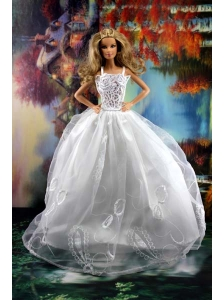 Beauty Ball Gown And Embroidery For Quinceanera Doll Wedding Dress