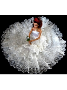 Exclusive Wedding Clothes Ruffled Layers Quinceanera Doll Dress