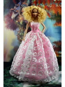 New Embroidery And A-line For Quinceanera Doll Dress
