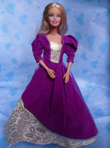 The Most Amazing Purple Dress with Organza Made to Fit the Barbie Doll