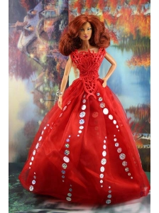 The Most Amazing Red Dress With Sequins Made To Fit The Quinceanera Doll