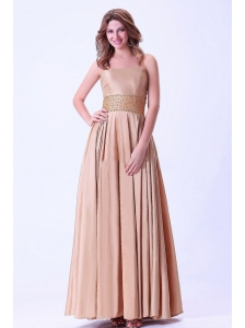 Beaded Prom / Evening Dress With Ankle-length Chiffon