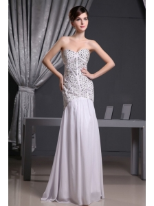 Mermaid Beaded Decorate Bodice and Chiffon For Prom Dress