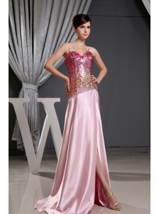 Spaghetti Straps and Sequin Decorate Bodice For 2013 Prom Dress