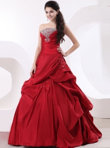 Strapless A-line and Beading For 2013 Custom Made Quinceanea Dress