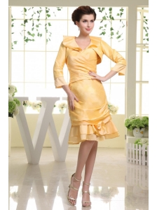 Yellow Prom Dress With Custom Made Sweetheart