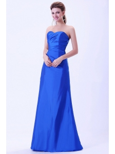 Royal Blue Bridemaid Dress Sweetheart Floor-length Lace-up