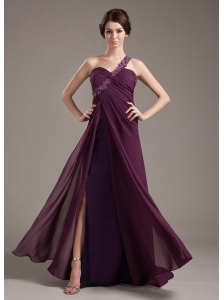Appliques With Beading Decorate Bodice Brush Train Burgundy Chiffon 2013 Prom Dress