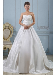 Modest Princess Sweetheart Beaded Decorate and Ruch Wedding Gowns For Wedding Party