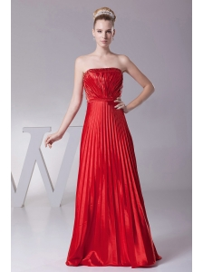 Red Pleat Over Skirt For Custom Made Prom Dress