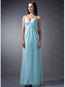 Baby Blue Sweetheart Ruch Dama Dress 2013 On Sale