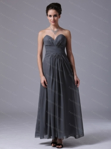 Grey Sweetheart Chiffon 2013 Dama Dresses On Sale