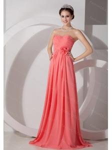 Long Watermelon Sweetheart Ruch Dama Dress On Sale 2013