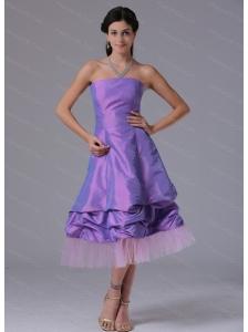 Short Lavender A-line Strapless Dama Dresses 2013 On Sale