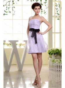 Spaghetti Straps Short Lilac Dama Dress