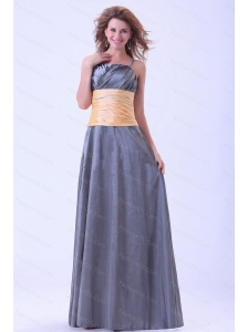 Spaghetti Straps Taffeta Ruch Dama Dress 2013