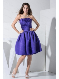 Steapless Purple Ruch Dama Dress under 100
