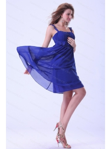 Straps Royal Blue Chiffon Dama Dress On Sale