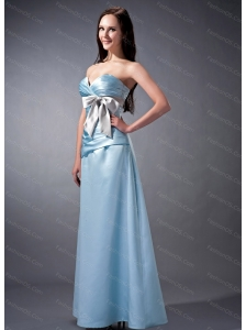 Sweetheart Ankle-length Ruch and Bow 2013 Dama Dress