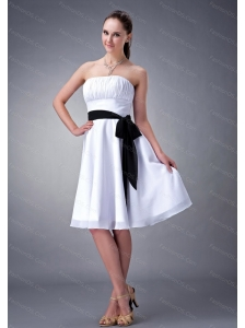 White A-line / Princess Sash Dama Dress 2013 On Sale