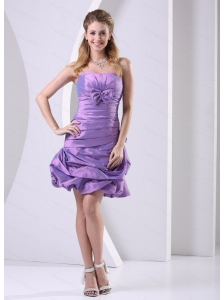 Cheap Lavender Ruched and Bowkont 2013 Short Dama Dresses