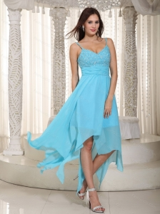 Discount Baby Blue Straps Ruch Dama Dresses for 2013