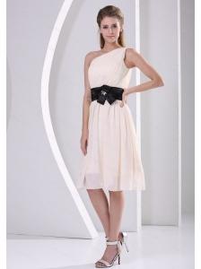 Discount One Shoulder Champagne Dama Dresses for Summer