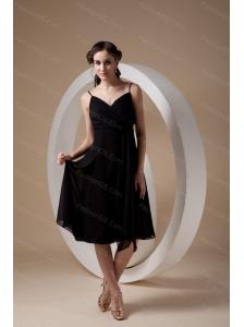 Empire Spaghetti Straps Chiffon Ruch 2013 Dama Dresses