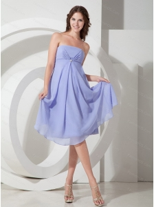 Lilac Strapless Beading Cheap Dama Dress On Sale