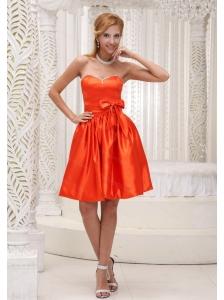 Orange Red Bowknot 2013 Dama Dress On Sale