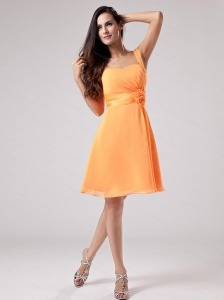 Orange Red One Shoulder 2013 Dama Dress
