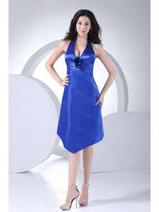 Short Column Taffeta Halter 2013 Dama Dresses