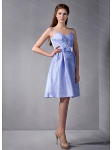 Spaghetti Straps Lilac Belt Dama Dress On Sale