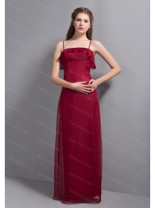 Straps Chiffon Floor-length Dama Dress On Sale