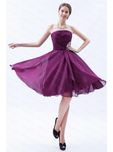 Appliques A-line / Princess affordable Dark Purple Dama Dress