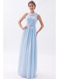 Beading  One Shoulder Floor-length Empire Dama Dress
